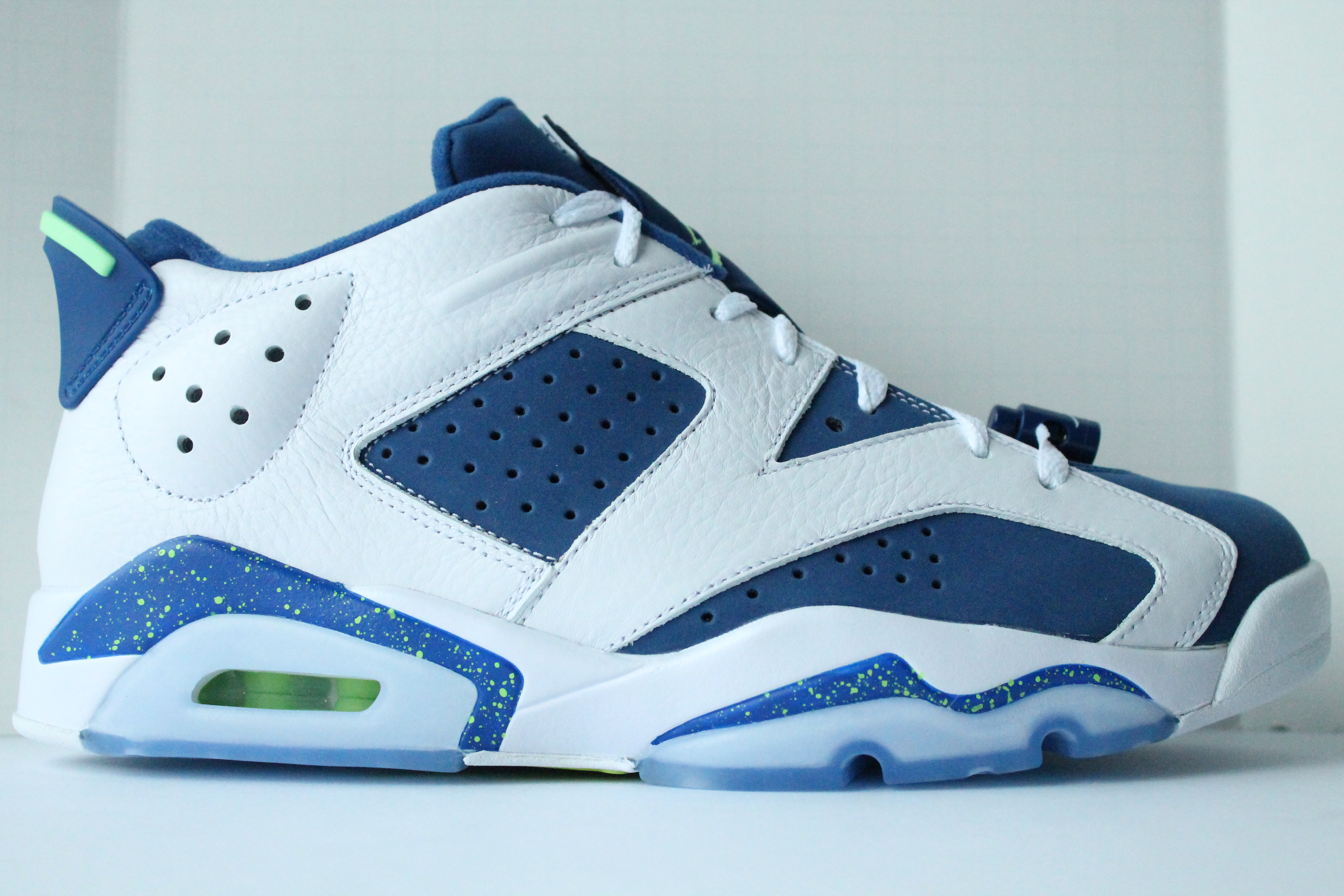 huge selection of a7a2c 60a96 Air Jordan 6 Retro Low - Insignia Blue  Ghost Green