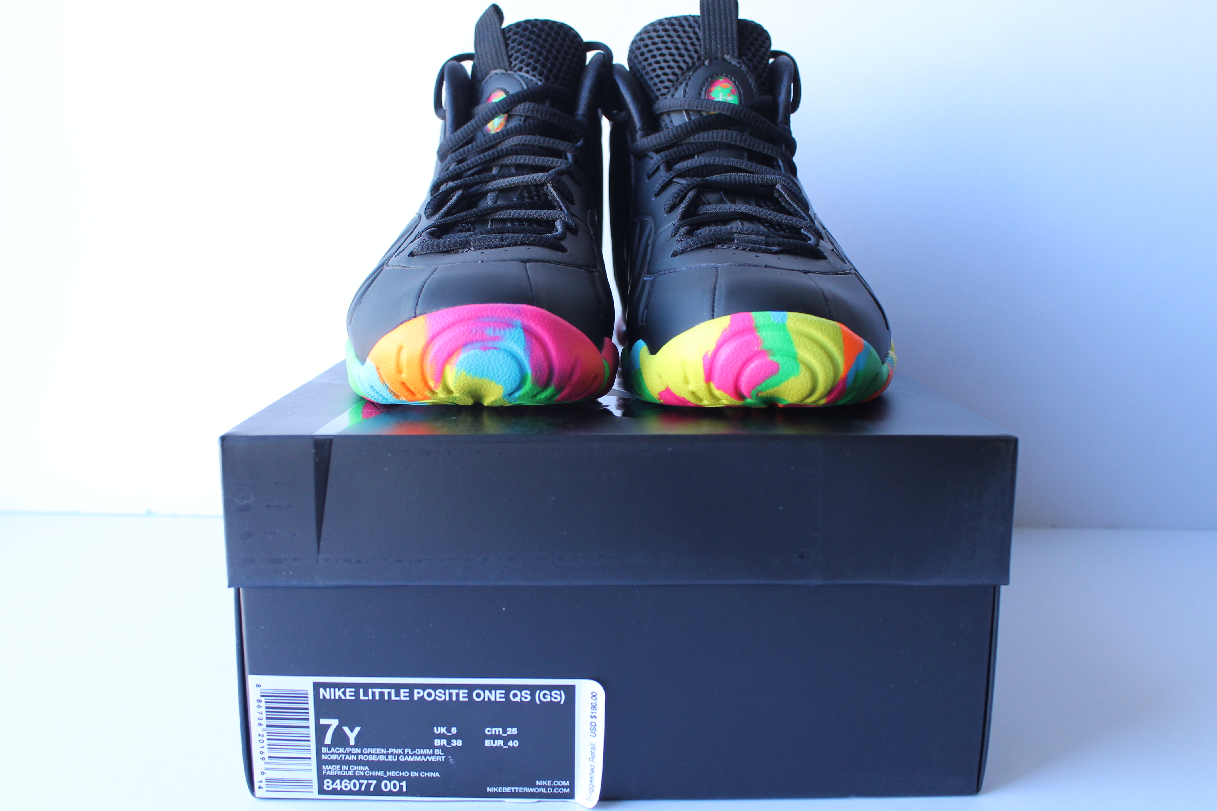 "f369c84c1177 Nike Little Posite One QS(GS) – Black ""Fruity Pebble ..."