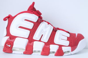 Nike Supreme Air More Uptempo - Red