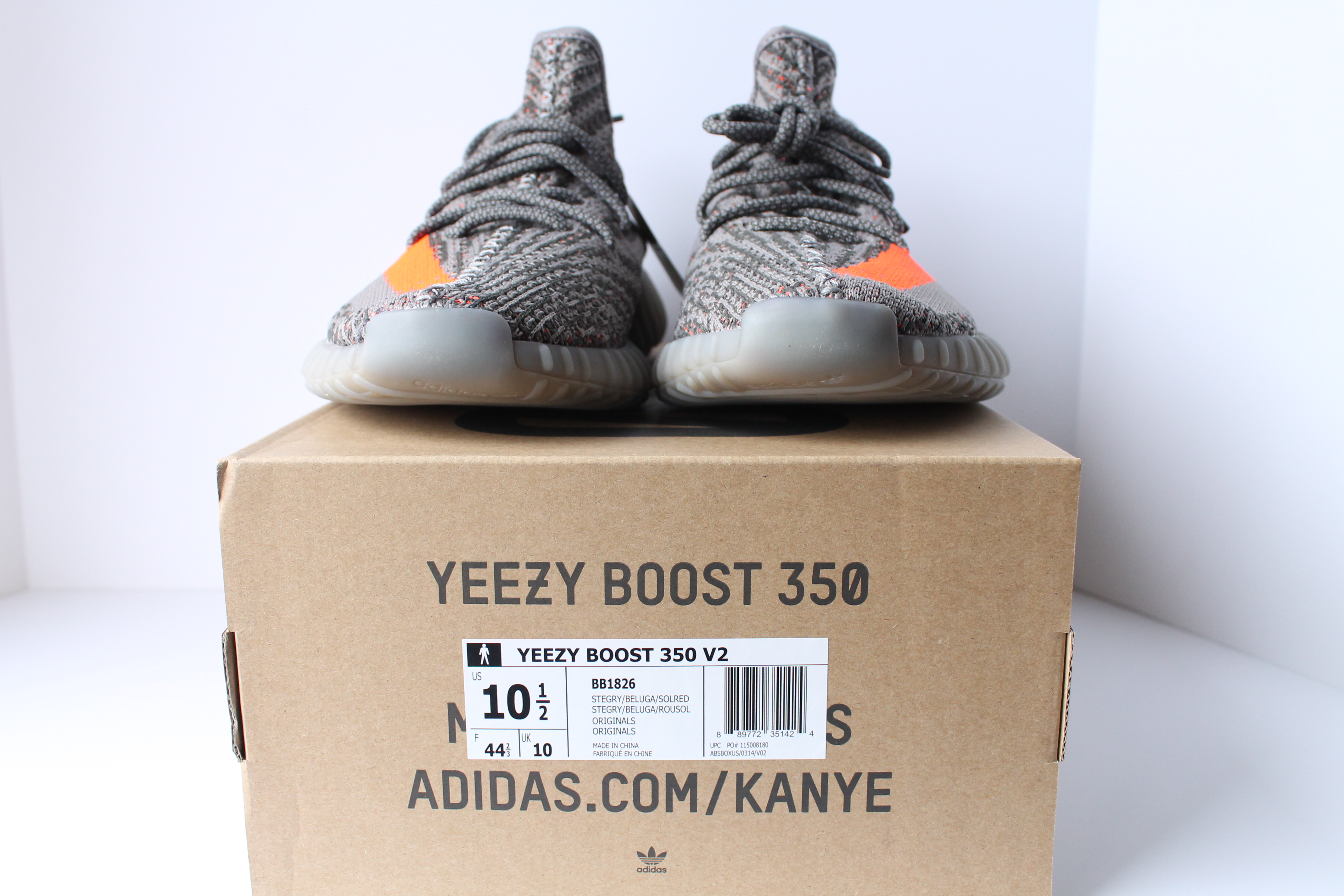 Adidas Originals Yeezy Boost 350 V2 'Beluga' BB1826