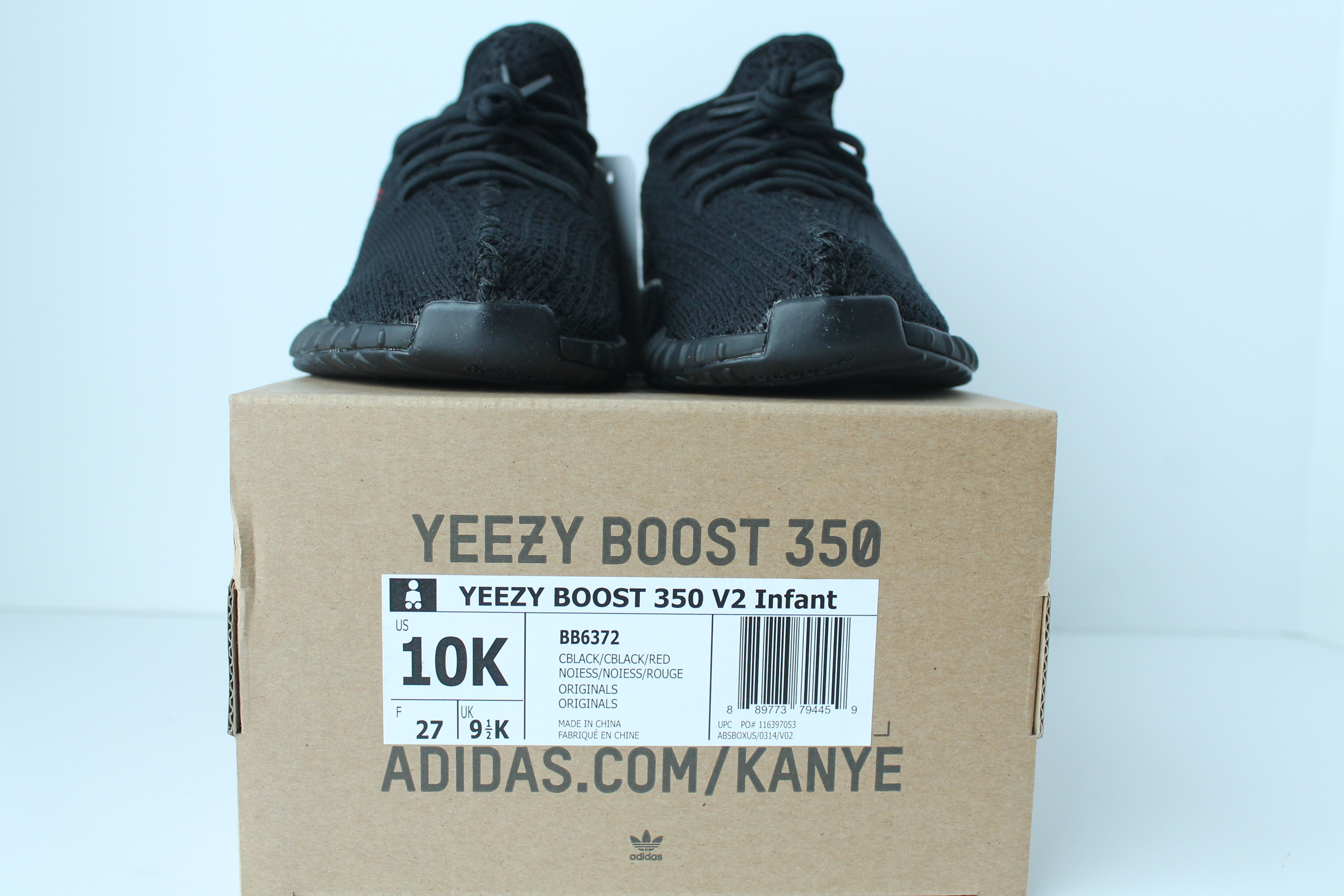 9a5327d79b680 INFANT Adidas Yeezy Boost 350 v2 – Bred ...