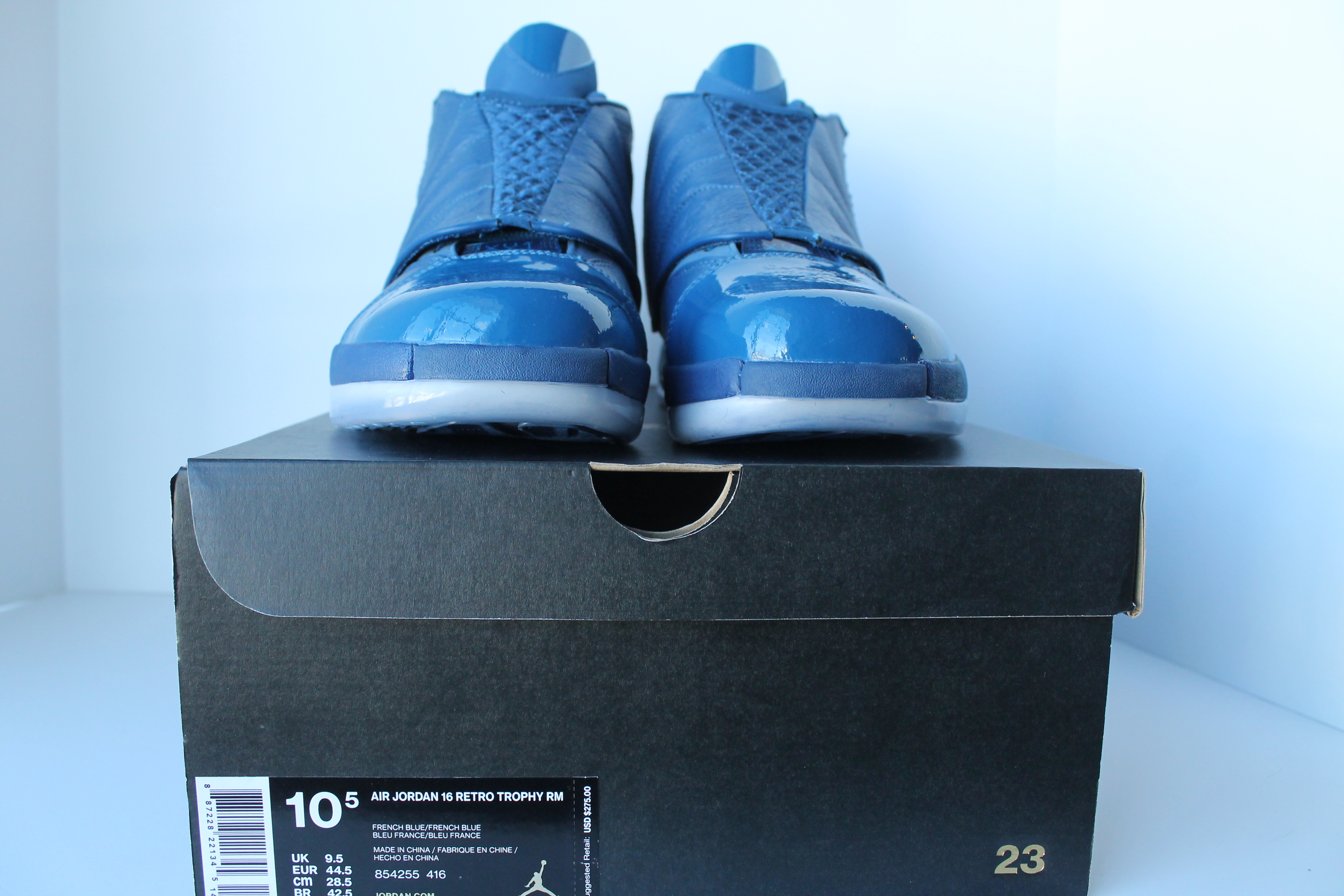 cdbedcceffd AuthentKicks | Air Jordan 16 Retro Trophy Room
