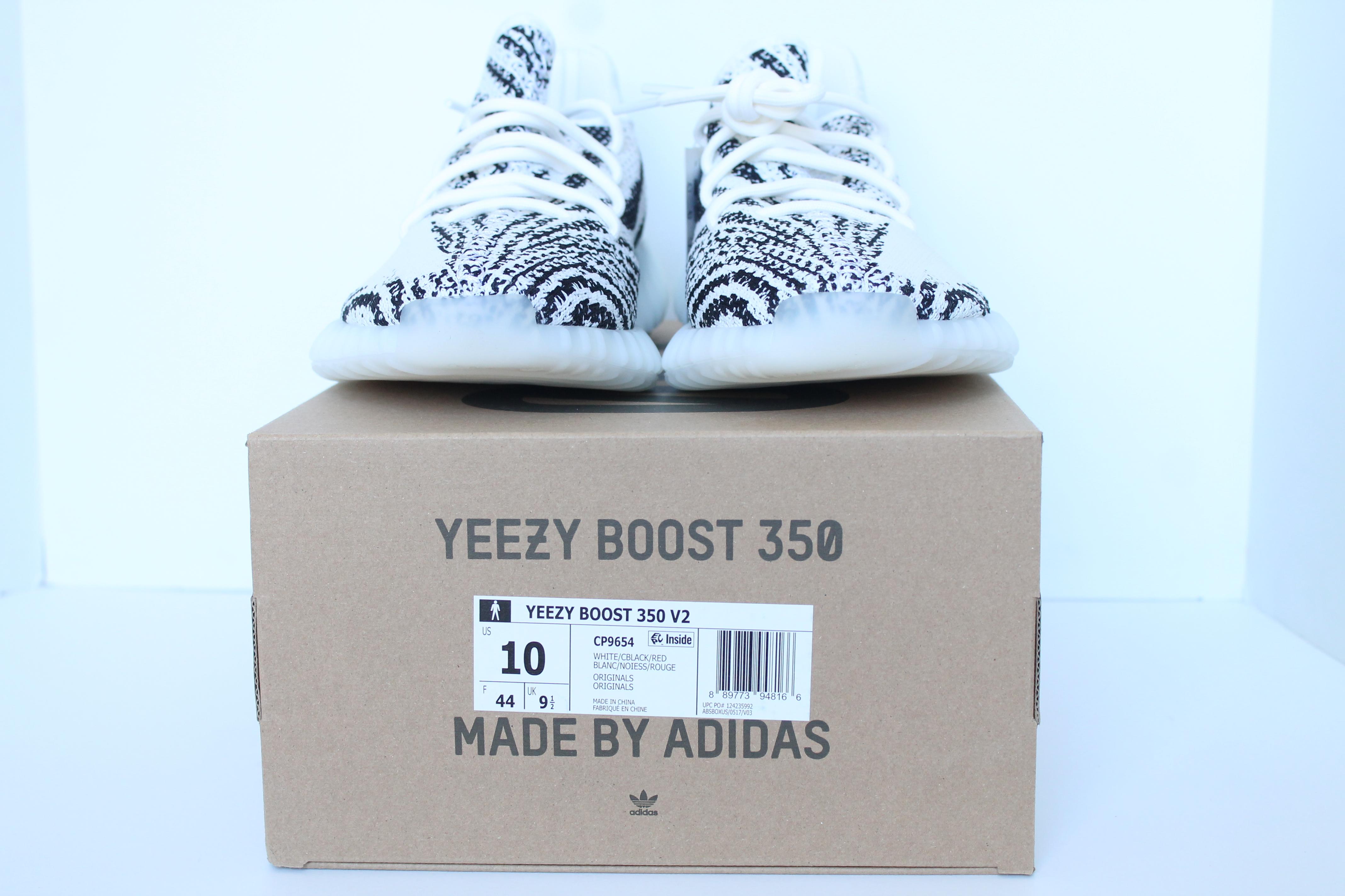 Authentkicks Adidas Yeezy Boost 350 V2 Zebra