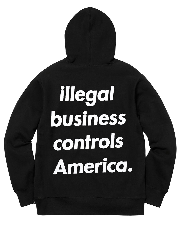 f34df782 AuthentKicks | Supreme illegal business controls America Hoodie
