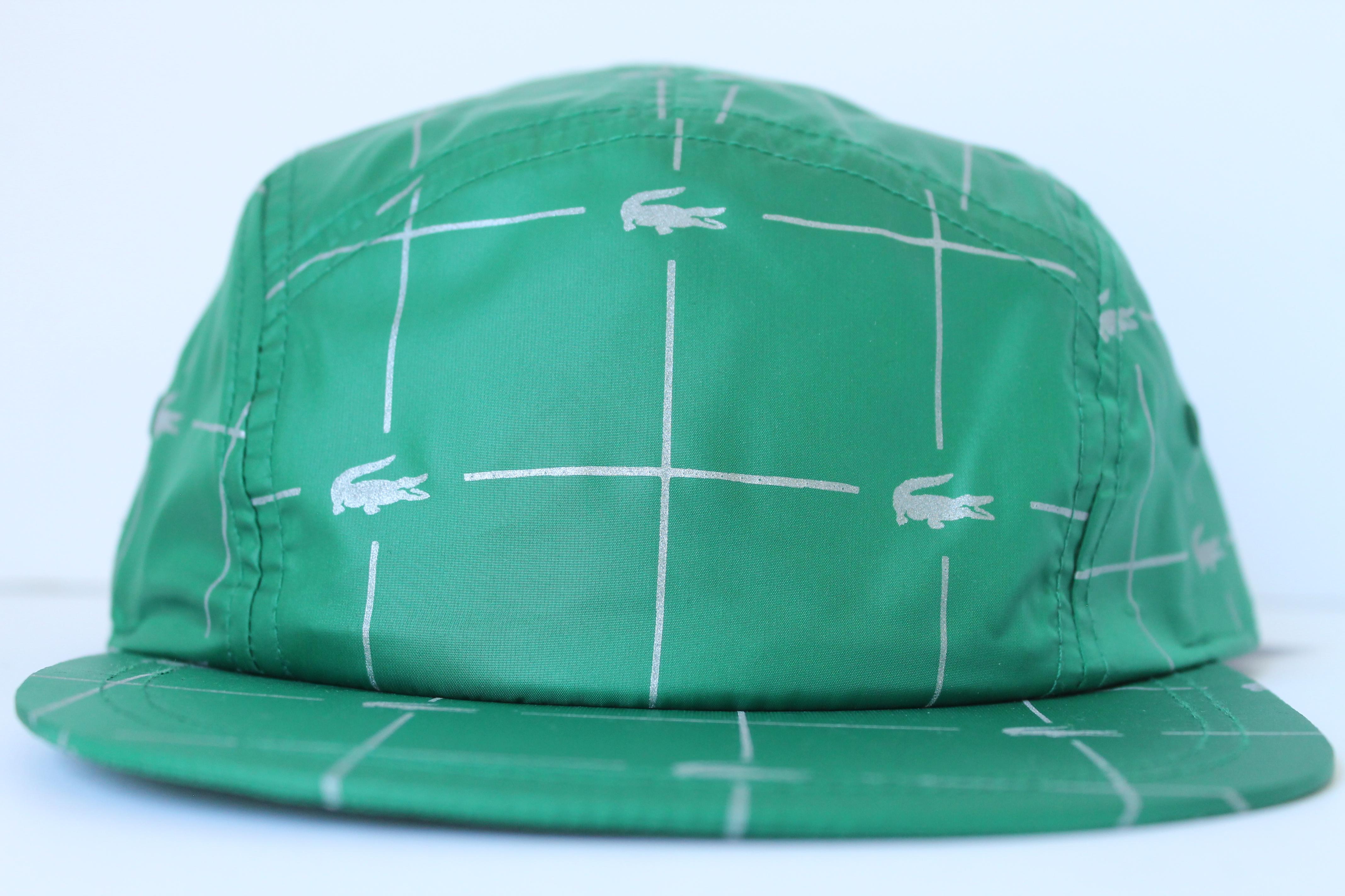 cd3c1e4c AuthentKicks | Supreme® /LACOSTE Reflective Grid Nylon Camp Cap