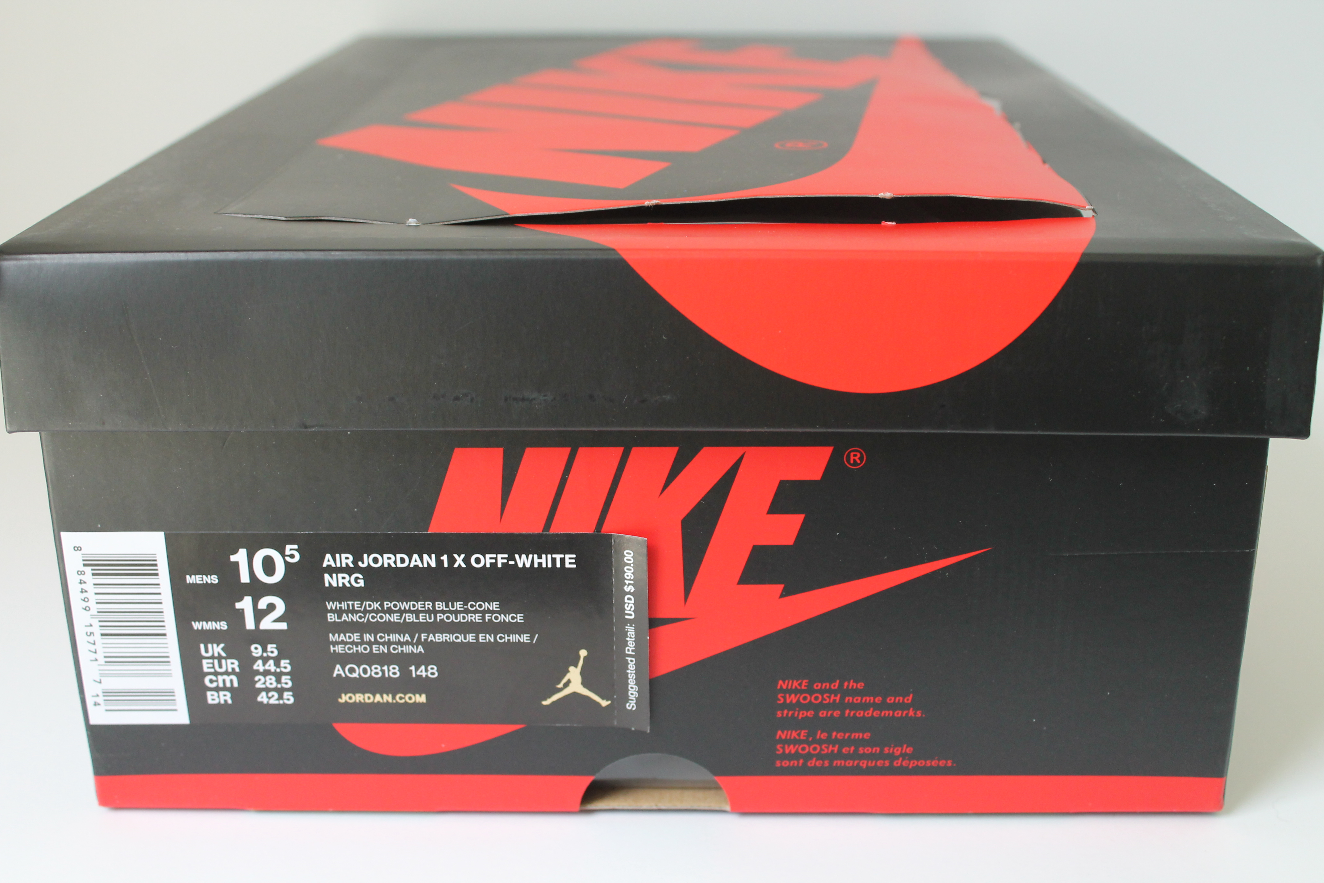 sale retailer 36839 4d435 Air Jordan 1 X OFF WHITE NRG