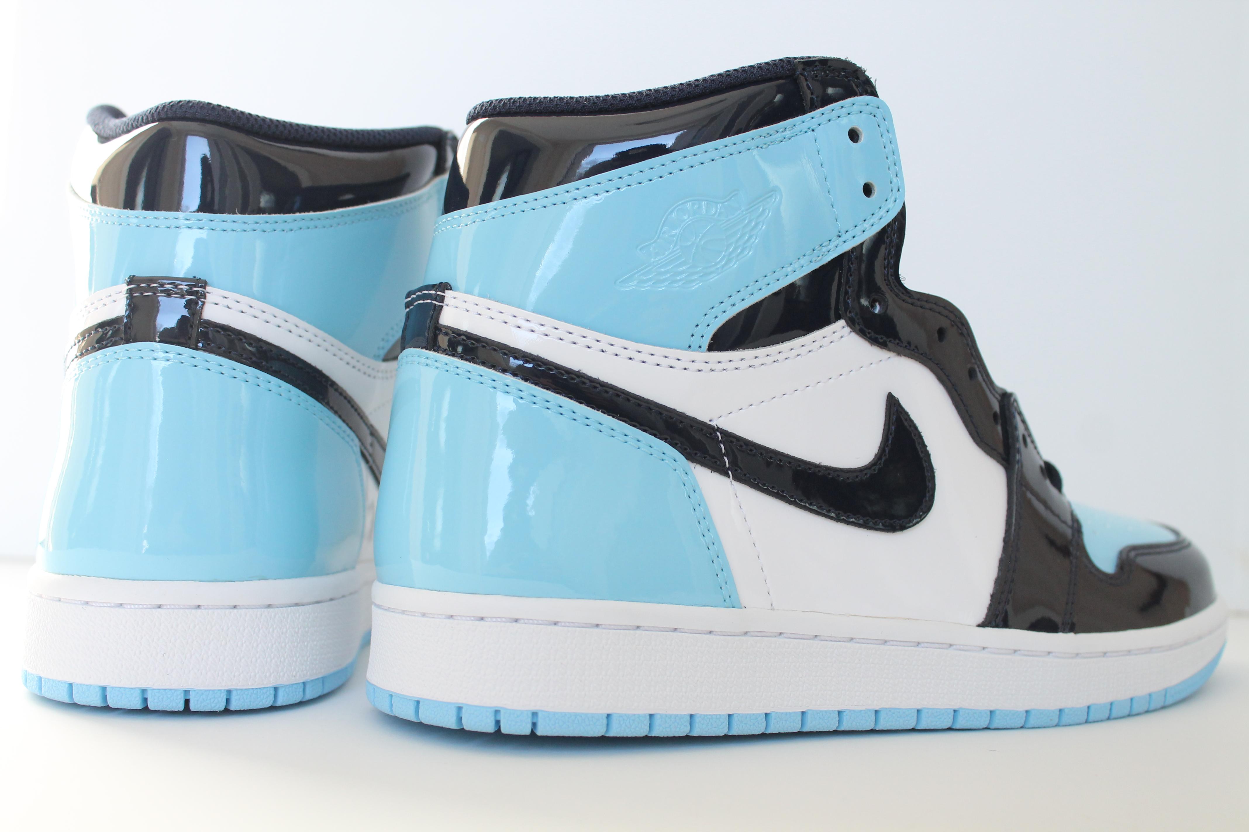 """brand new c646c f8d57 ... Chill"""" Air Jordan 1 Retro High OG Women s UNC """"Blue ..."""